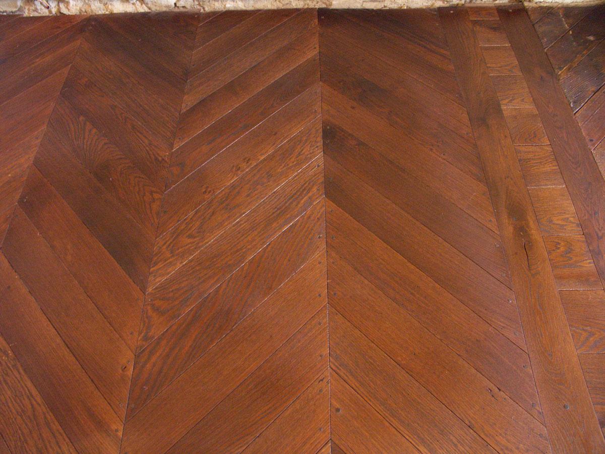Atelier des granges french parquet chevron finished Chevron wood floor