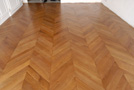 Parquet Chevron in oak