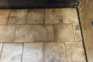 End grain wood blocks in oak gray leached