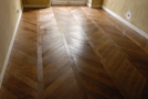 Finishing oiled waxed  for this traditional parquet