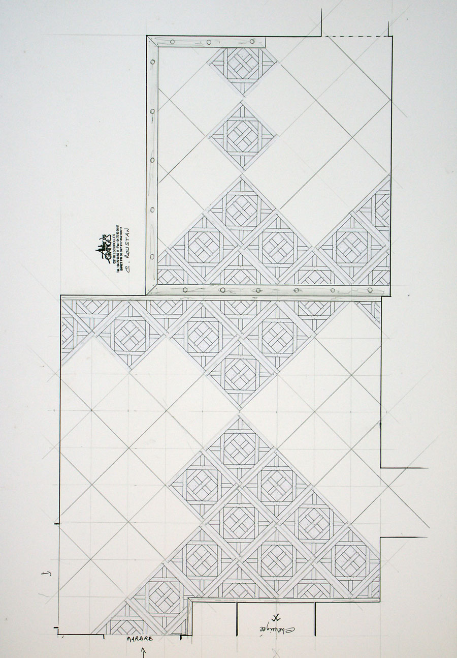 Parquet with  Panels  d'Aremberg