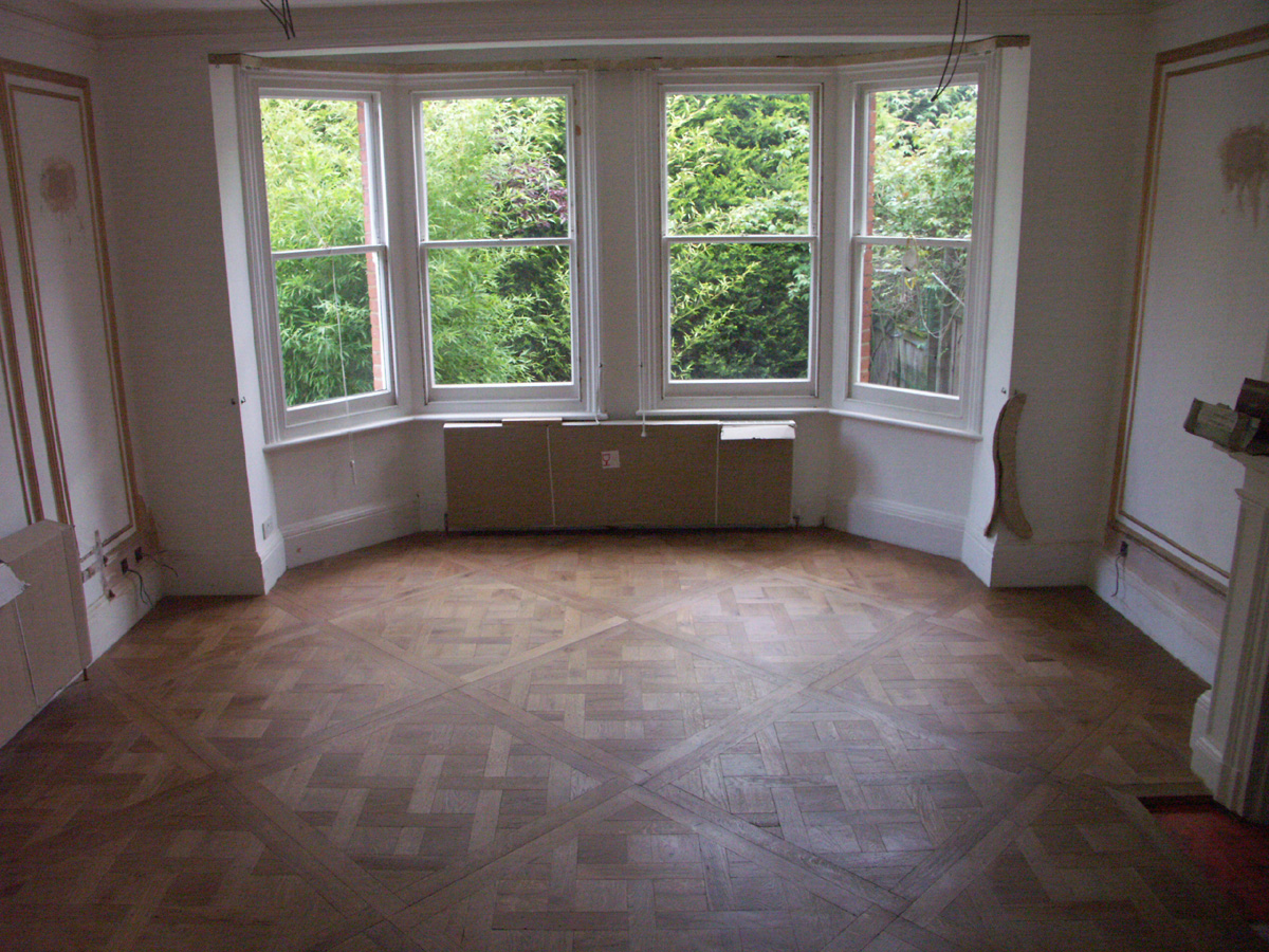 Parquet Flooring In A Kitchen