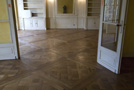 Versailles parquet panels  finishing patined