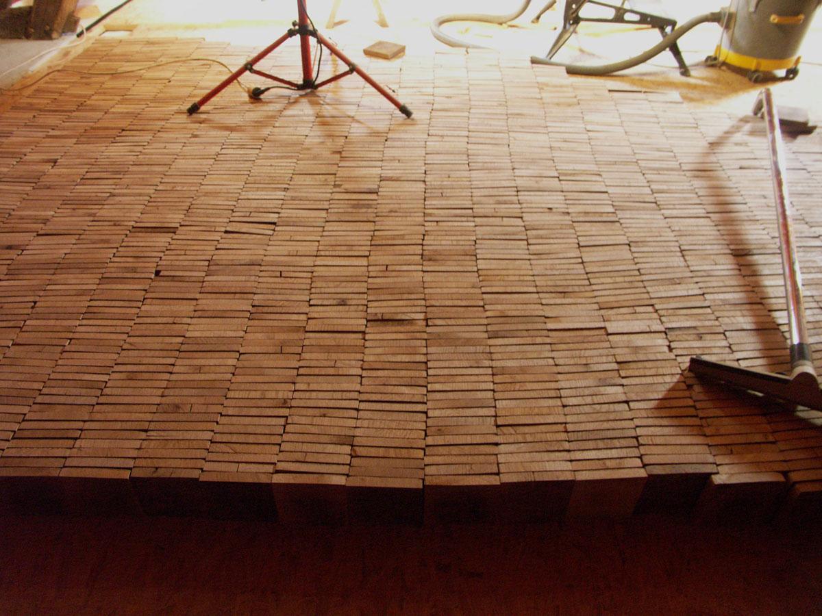 Panneau bois chene blanc travaux en ligne le havre - Poser du parquet sur du lino ...