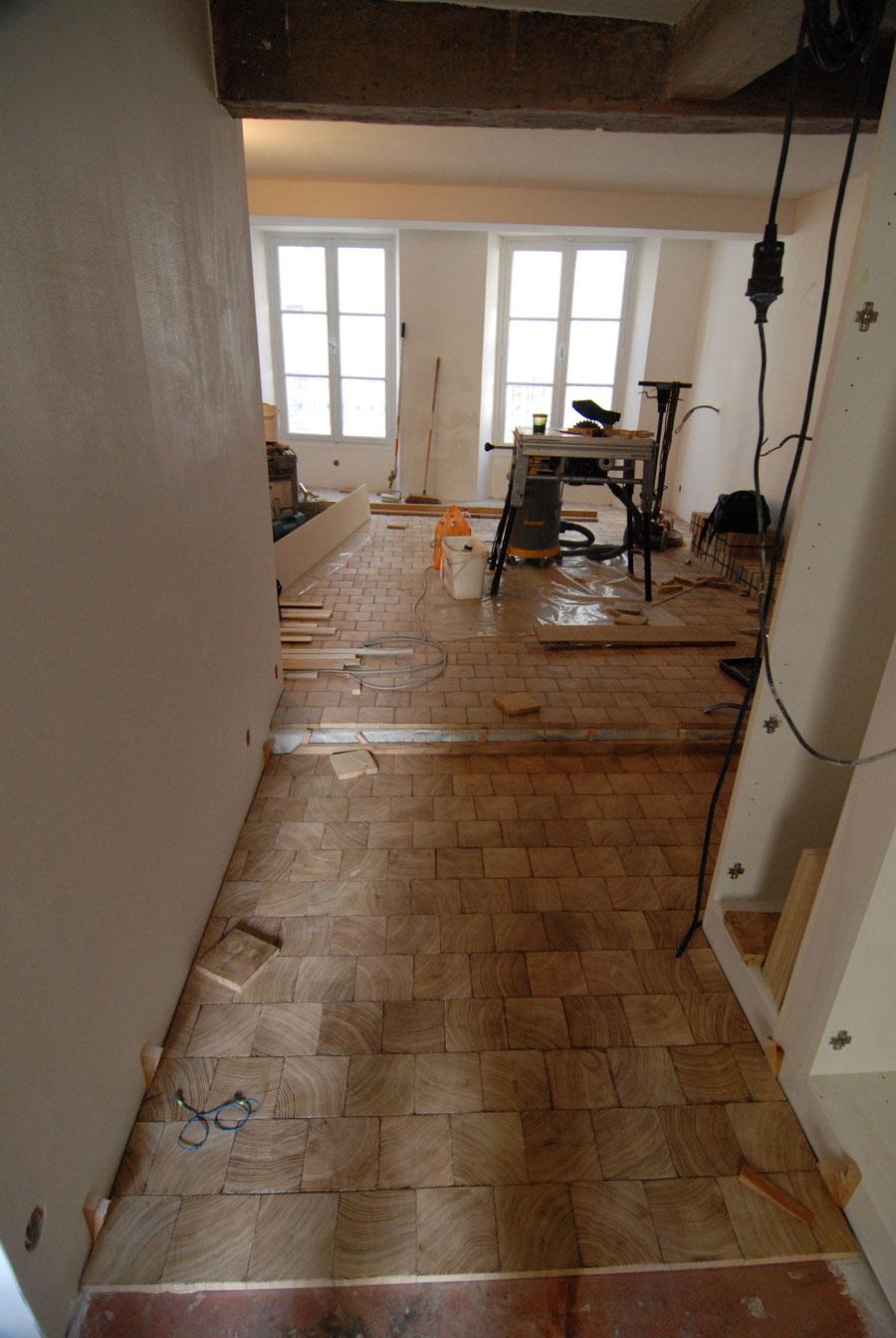 pendant le chantier de pose parquet pavage dans un appartement parisien n 427. Black Bedroom Furniture Sets. Home Design Ideas