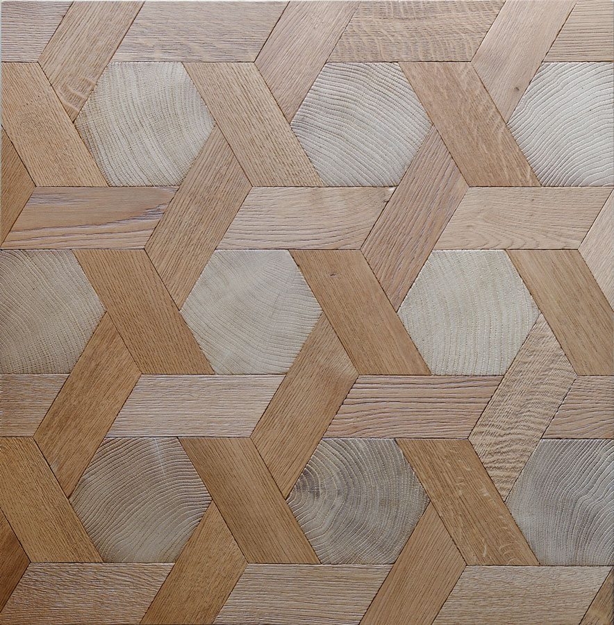 Assemblage Bois Hexagone : Hexagon End Grain Flooring