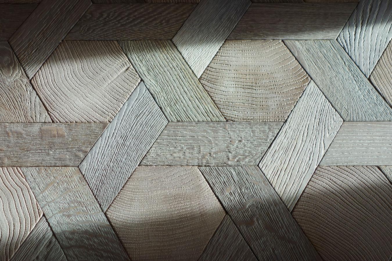 jeux de lumi re parquet tapis hexagone en bois debout et bois de fil ch ne massif n 960. Black Bedroom Furniture Sets. Home Design Ideas