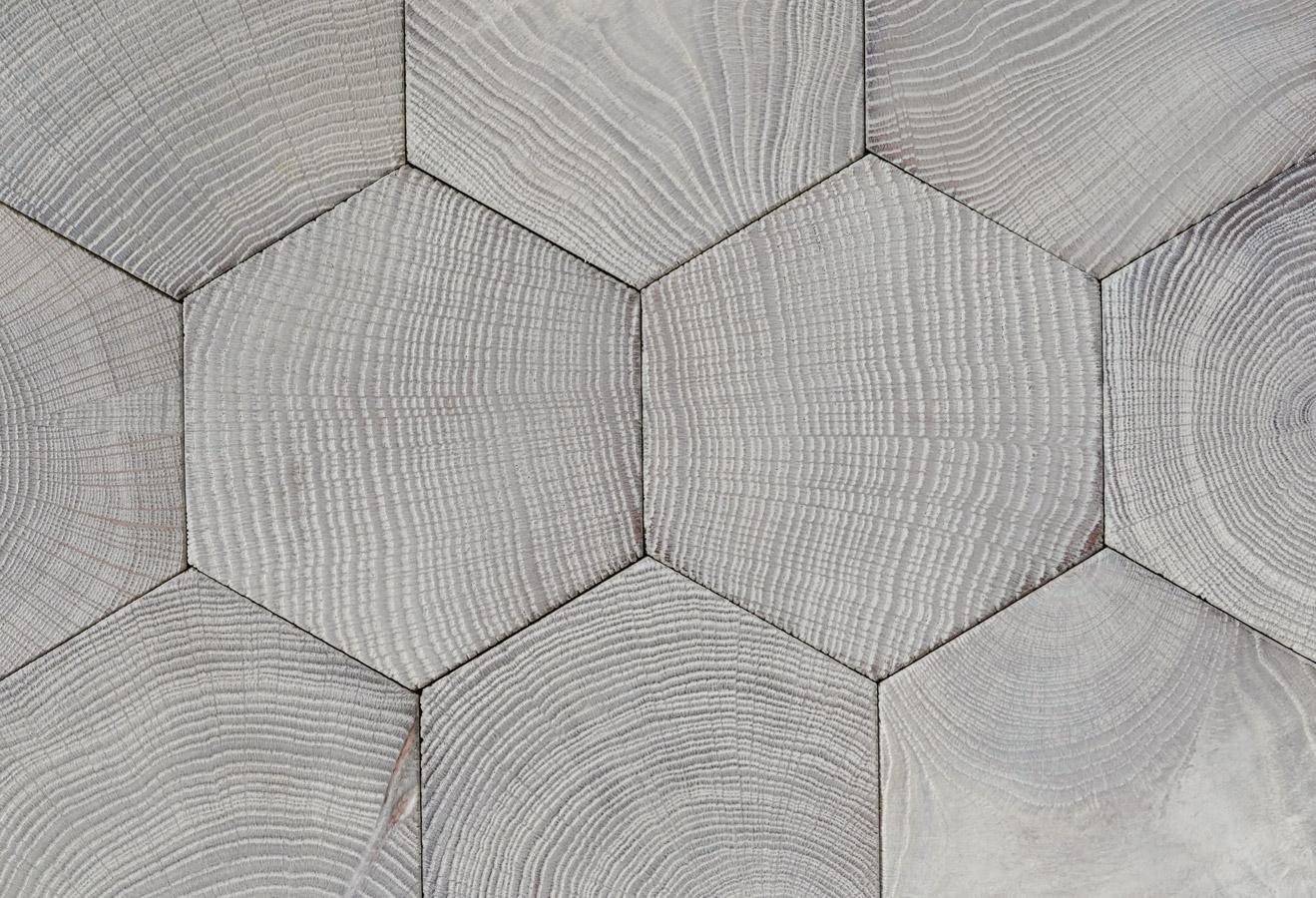 Hexagones Bois Debout En Ch 234 Ne Gris Lessiv 233 Variations