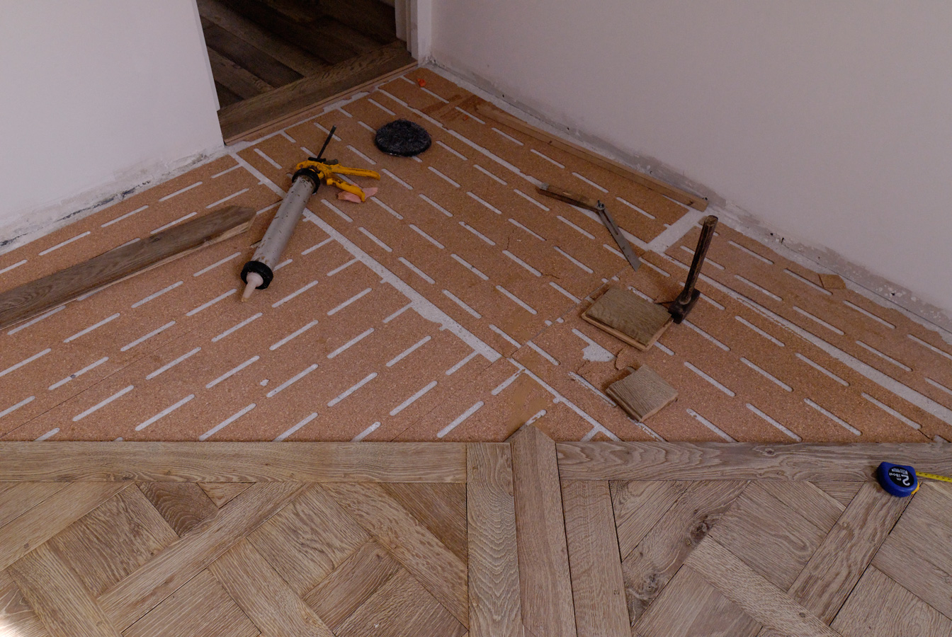 Pose parquet massif for Pose carrelage sur osb