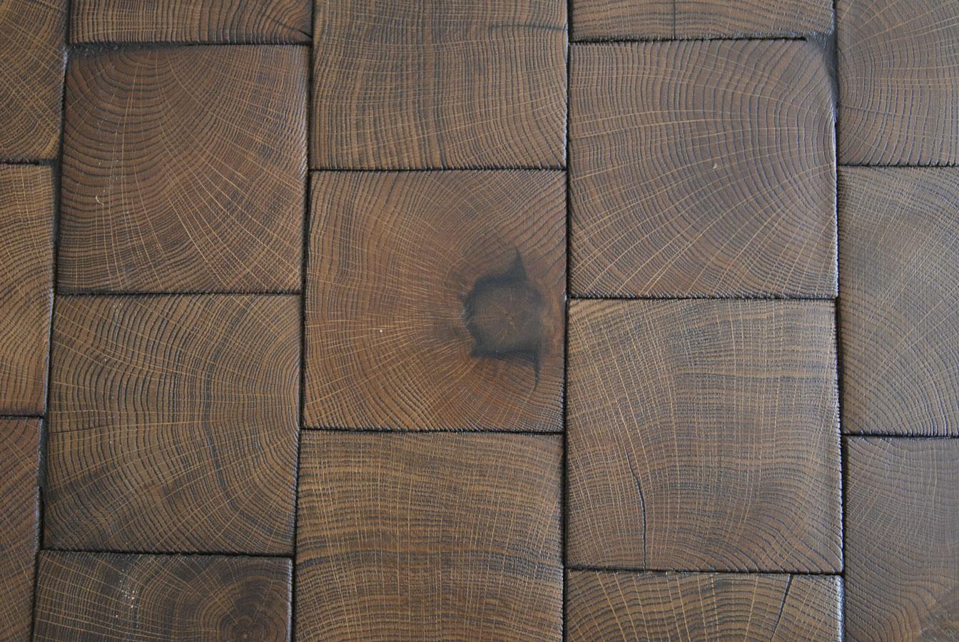 Atelier des Granges (French parquet) end grain wood block 9 #677 # Vers De Bois Parquet