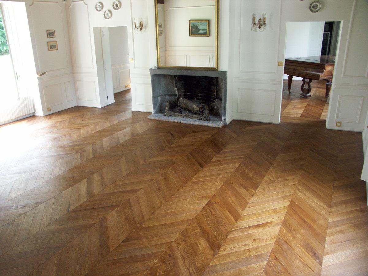 Bien connu La pièce au piano - Parquet Point de Hongrie en Auvergne - n°338 DF35