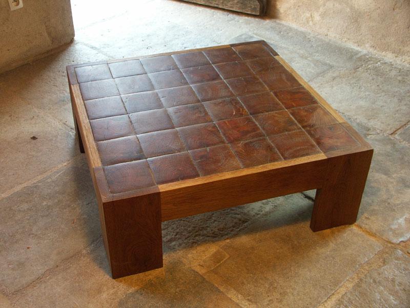Table en bois debout tables basses n 236 for Table de salon fait maison